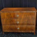 Antik & Alte Möbel - Kommode Braun 3 Schublade Nuss Antik Alt Vintage 19.Jahrhundert / 18. Jahrhundert